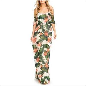 SMYM Caitlin Paradise Found Maxi Dress Size Small